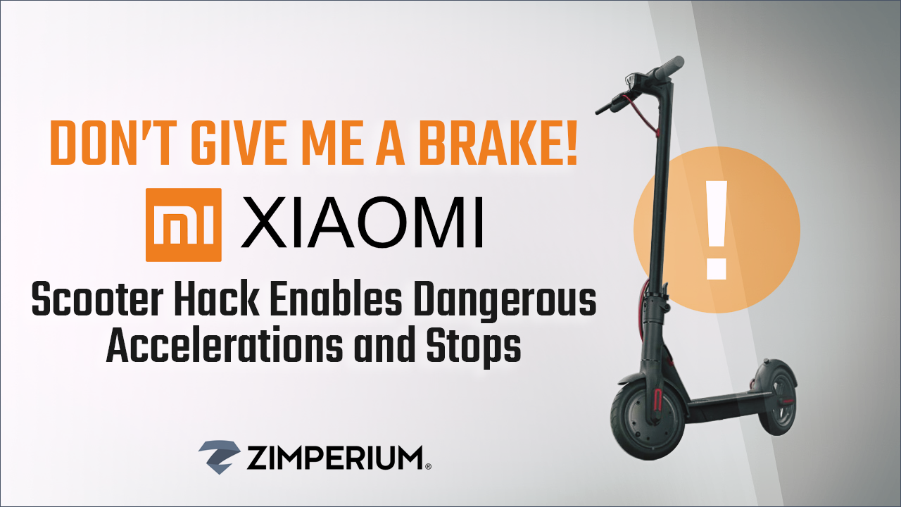 Don't Give Me a Brake - Xiaomi Scooter Hack Enables Dangerous