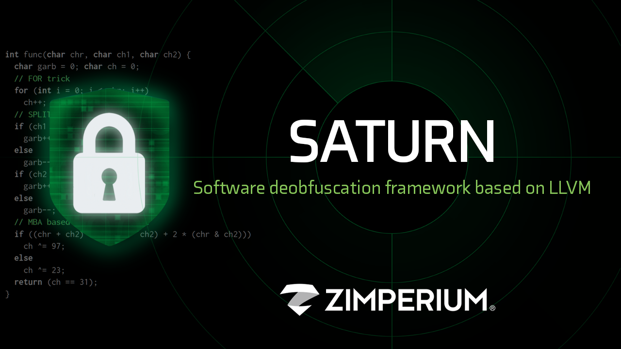 SATURN Software deobfuscation framework based on LLVM